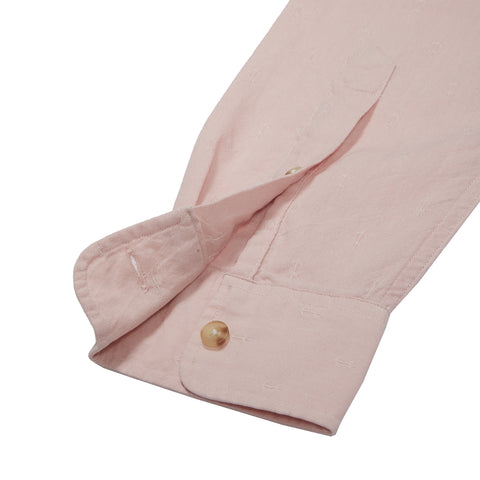 Osborne Anchor Dobby Long Sleeve Shirt - Coral Blush-Grayers