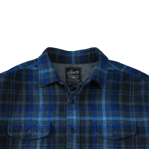 Barton Textured Flannel - Charcoal Royal Gray-Grayers