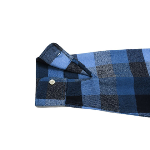 Hardigan Heritage Flannel - Blue Gray Jaspe Check-Grayers