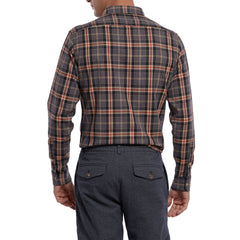 Straiton Stretch Herringbone - Charcoal Red Plaid-Grayers