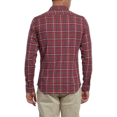 Swanston Stretch Herringbone - Red Plaid