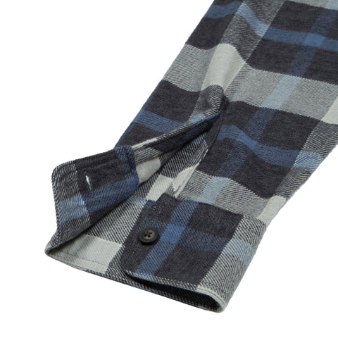 Keats 3 Ply Jaspe - Blue Plaid-Grayers