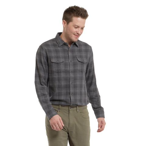 Armadale Double Cloth Shirt - Charcoal Gray Plaid