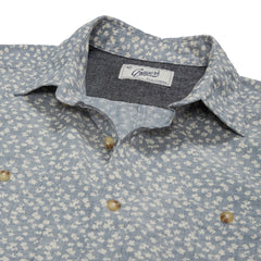 Drayton Printed Chambray Shirt - Aegean Blue Whisper-Grayers