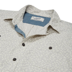 Drayton Printed Chambray Shirt - Micro Chip Print-Grayers