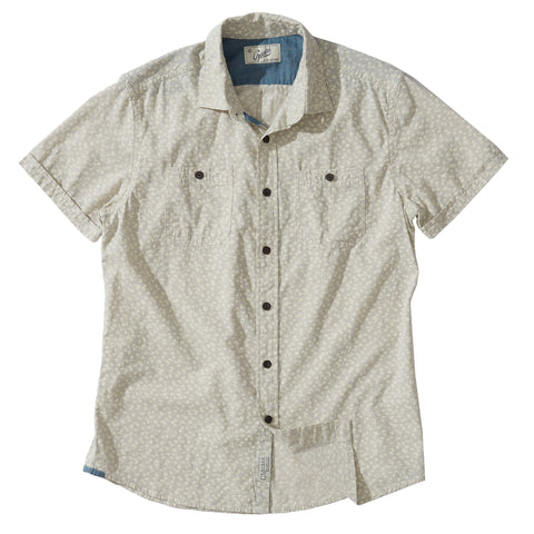 Drayton Printed Chambray Shirt - Micro Chip Print