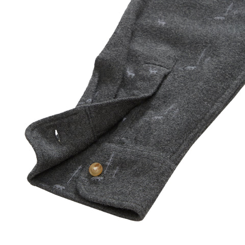 Lodge Lux Flannel Shirt - Charcoal Elk Print