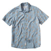 Toucan Printed Slub Twill Short Sleeve Shirt - Blue Mirage Print