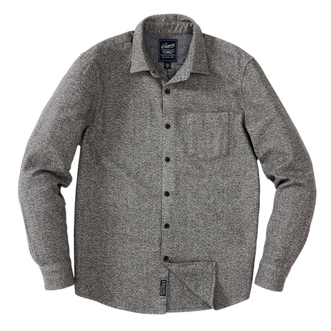 Albemarle Herringbone Knit Blazer - Gunmetal Brown Herringbone Terry