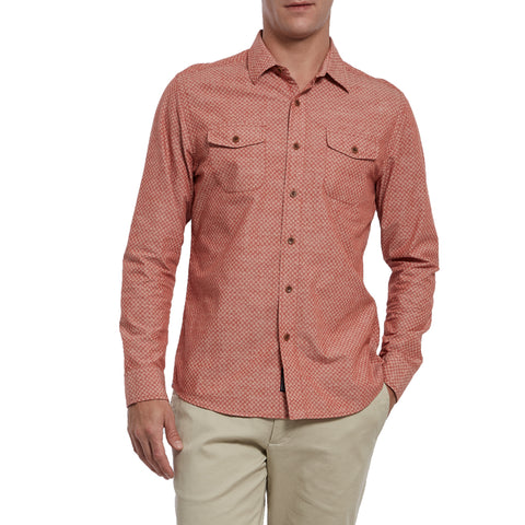 Lockhart Printed Chambray - Burnt Orange Print-Grayers