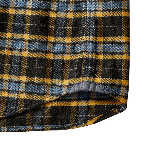 Tartan Heritage Flannel Shirt - Charcoal / Gold Plaid