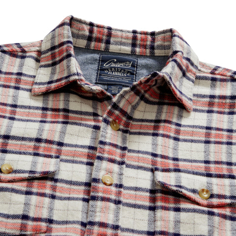 Tartan Heritage Flannel Shirt - Soft Red Peacoat Plaid