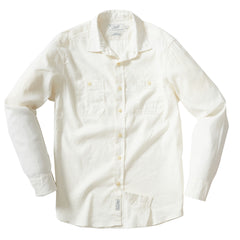 Ardenzo Linen Cotton Stretch Long Sleeve Shirt - Bright White
