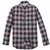 Orson Peached Oxford - Black Gray Red Plaid