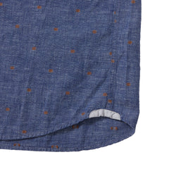 Avington Linen Cotton  End-On-End Dobby Long Sleeve Shirt - Chambray Blue