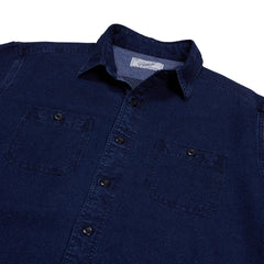 Indigo Dobby Work Shirt - Blue Indigo-Grayers