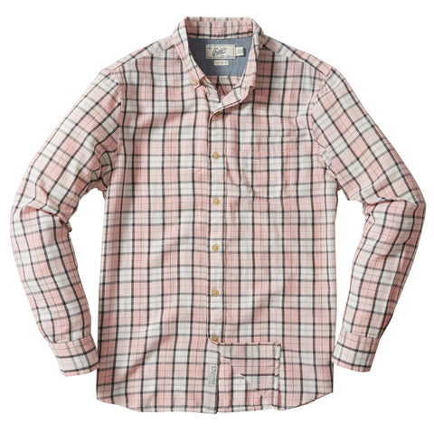Winford Slub Twill Long Sleeve Shirt - Coral Blue Blush-Grayers