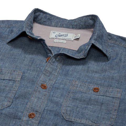 Dunmore Chambray Workshirt - Dark Blue-Grayers