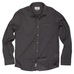 Portofino Featherweight Poplin Shirt - Forged Iron-Grayers