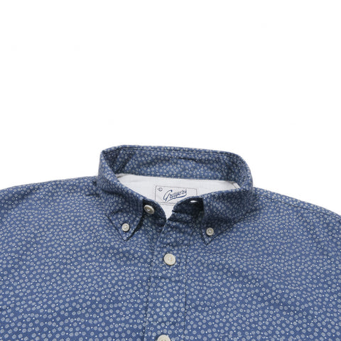 Pedder Printed Twill - Blue Mini Dot Print