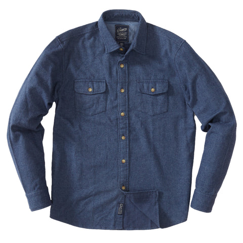 Mallory Heritage Flannel - Denim Blue