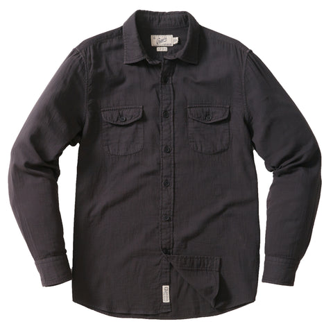 Brando Light Weight Double Cloth Shirt - Washed Black