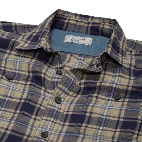 Wooton Power Loom Twill Long Sleeve Shirt - Blue Depth/Humus-Grayers