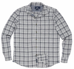 Billings Oxford Flannel - Gray Navy Plaid-Grayers