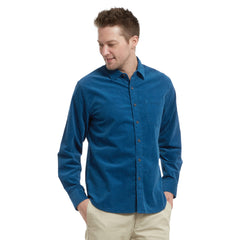 Sutherland Stretch Corduroy Shirt - Mallard Blue