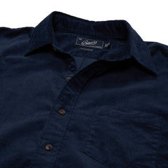Sutherland Stretch Corduroy Shirt - Caviar-Grayers