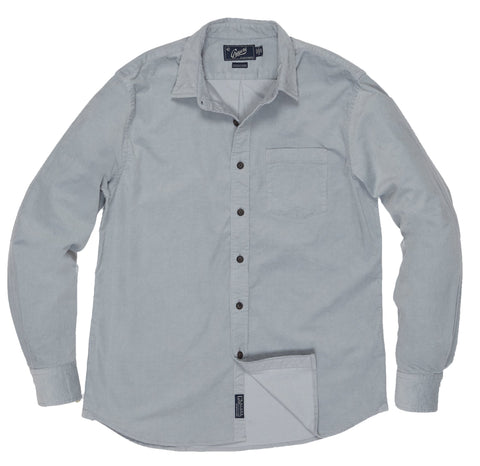 Sutherland Stretch Corduroy Shirt - Lunar Rock