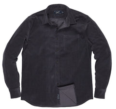 Sutherland Stretch Corduroy Shirt - Pewter-Grayers