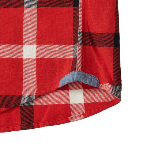 Wolf Hollow Twill Plaid - Red Black