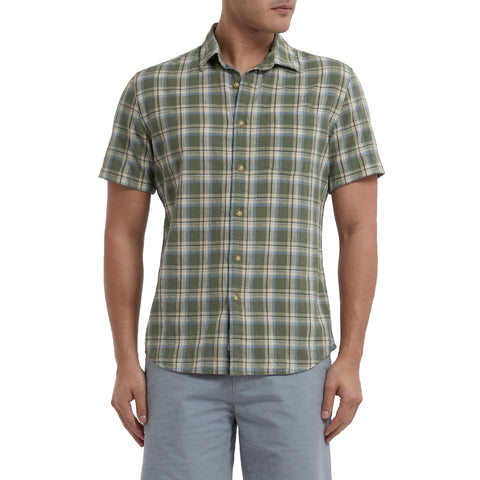 Rhodes Slub Plainweave Short Sleeve Shirt - Clover Stone Wash-Grayers
