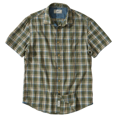 Rhodes Slub Plainweave Short Sleeve Shirt - Clover Stone Wash