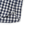 Grange Shadow Gingham Short Sleeve Shirt - Navy Cream