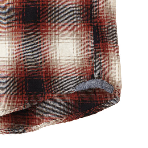 Ombre Midweight Plaid - Burgundy Black