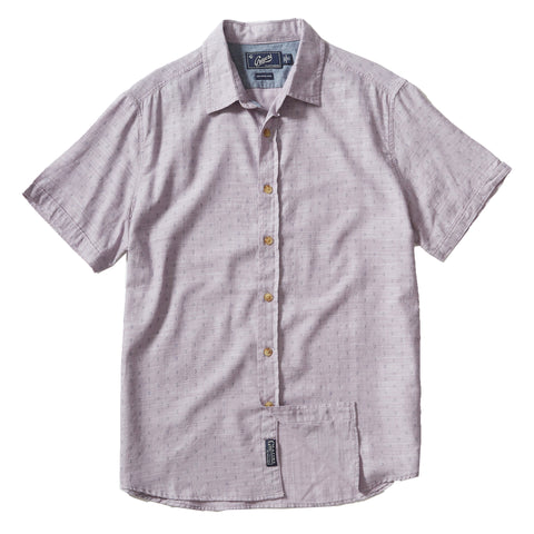 Navy Floral Printed Chambray Short Sleeve Shirt - Navy Floral