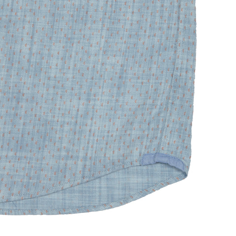 Dorset Printed Slub Twill - Light Blue w/ Print-Grayers