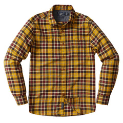 Saratoga Light Weight Herringbone Shirt - Sunflower Navy Plaid