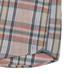 Stanley's Classic Madras Plaid Short Sleeve Shirt - Peach Wind Chime-Grayers