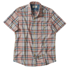Stanley's Classic Madras Plaid Short Sleeve Shirt - Peach Wind Chime