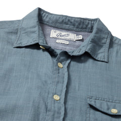 Horizon Summer Twill Shirt Short Sleeve Shirt - Blue Mirage