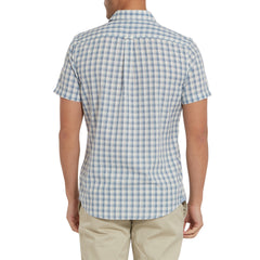 Blake Gingham Shirt- Light Blue Cream