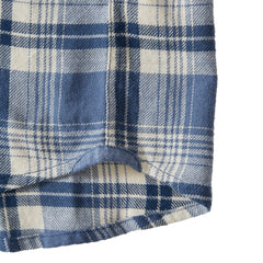 Woodvine Lightweight Twill - Denim Cream Plaid