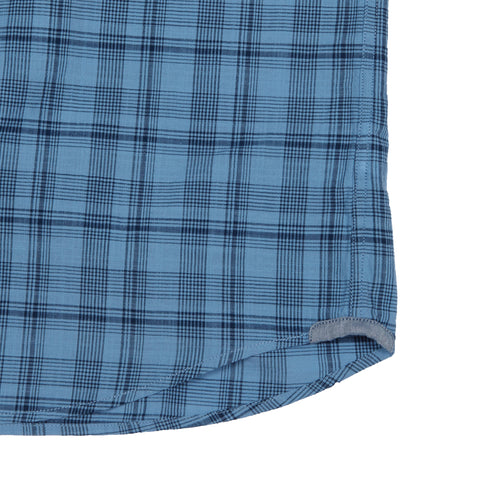Austin Slub Poplin - Blue Navy Plaid-Grayers