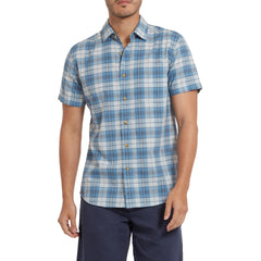 Savannah Slub Poplin - Blue Plaid