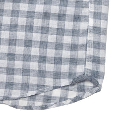 Carleton Gingham Short Sleeve Shirt - Navy