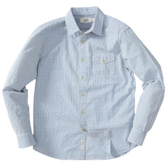 Chatham Seersucker Shirt - Blue Cream Gingham Seersucker