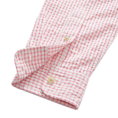 Chatham Seersucker Shirt - Pink Cream Gingham Seersucker